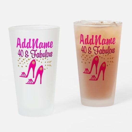 FABULOUS 40TH Drinking Glass