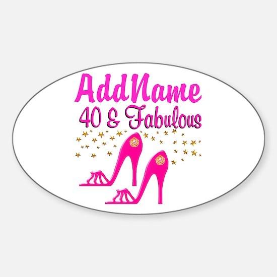 FABULOUS 40TH Sticker (Oval)