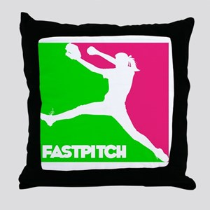 GWP Pitcher Fastpitch Throw Pillow