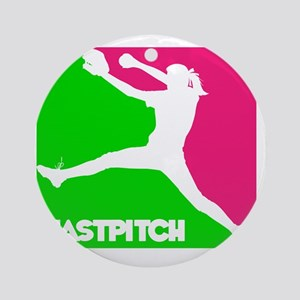 GWP Pitcher Fastpitch Round Ornament
