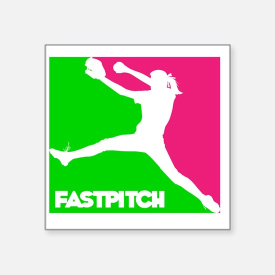"GWP Pitcher Fastpitch Square Sticker 3"" x 3"""
