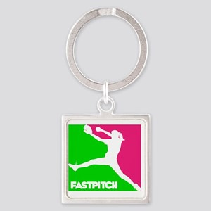 GWP Pitcher Fastpitch Square Keychain