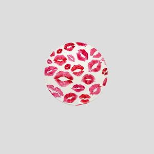 Lipstick Prints Mini Button