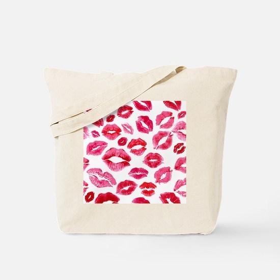 Lipstick Prints Tote Bag