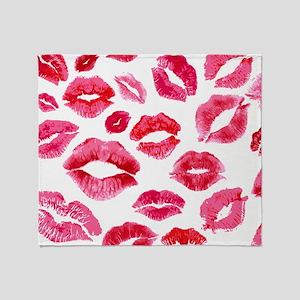 Lipstick Prints Throw Blanket