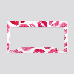 Lipstick Prints License Plate Holder