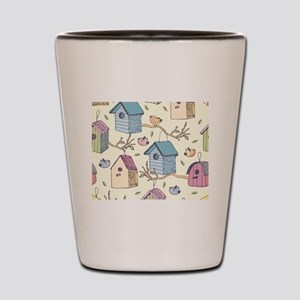 Cute Birdhouses Shot Glass