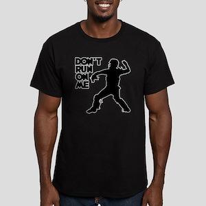 black Dont Run Men's Fitted T-Shirt (dark)