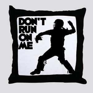 black Dont Run Throw Pillow