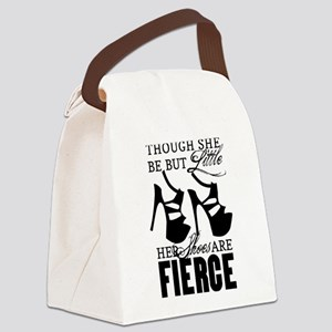 Though She Be But Little/Fierce Shoes Canvas Lunch