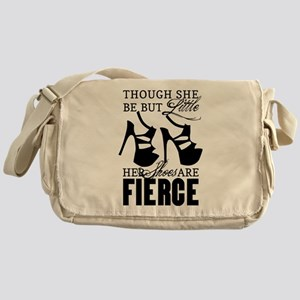 Though She Be But Little/Fierce Shoes Messenger Ba