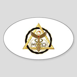 Medical Doctor Universal Design 2 Sticker (Oval)