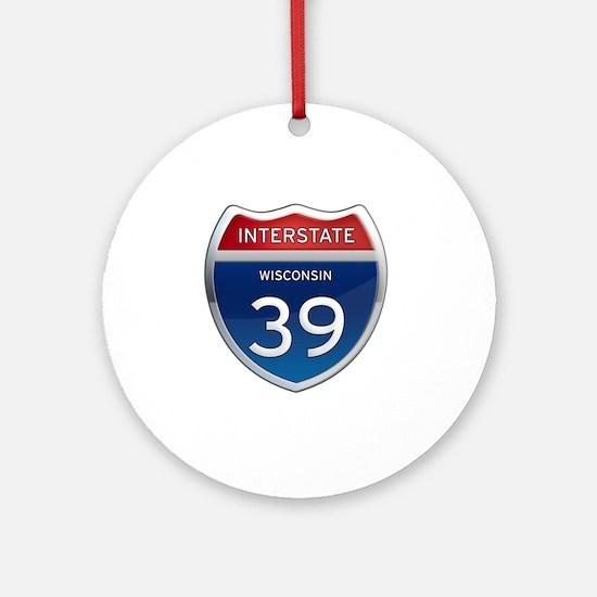 Interstate 39 Round Ornament
