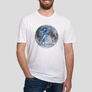 Artemis Moon greek god huntin Fitted T-Shirt