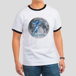 Artemis Moon greek god huntin Ringer T