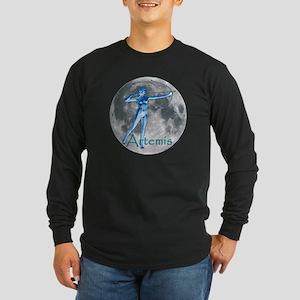 Artemis Moon greek god huntin Long Sleeve Dark T-S