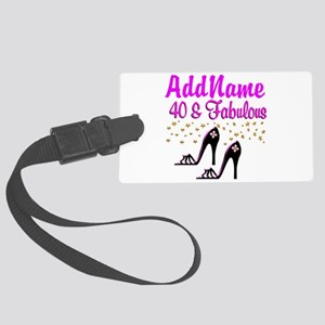GLAMOROUS 40TH Large Luggage Tag