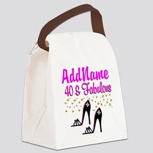 GLAMOROUS 40TH Canvas Lunch Bag