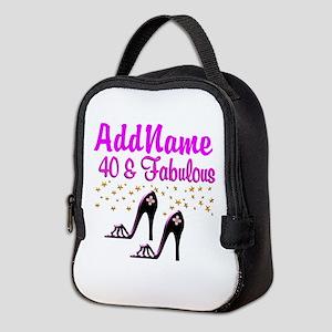 GLAMOROUS 40TH Neoprene Lunch Bag