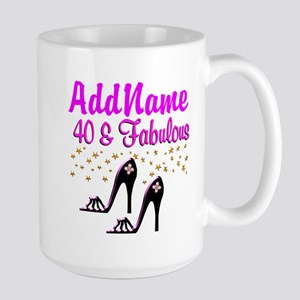 GLAMOROUS 40TH Large Mug