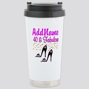 GLAMOROUS 40TH Stainless Steel Travel Mug