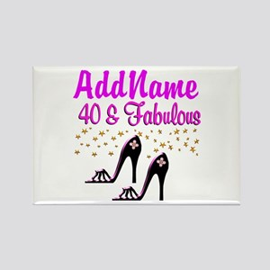 GLAMOROUS 40TH Rectangle Magnet