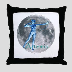 Artemis Moon greek god huntin Throw Pillow