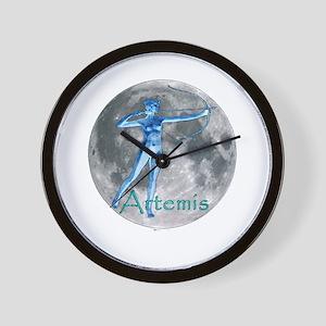 Artemis Moon greek god huntin Wall Clock