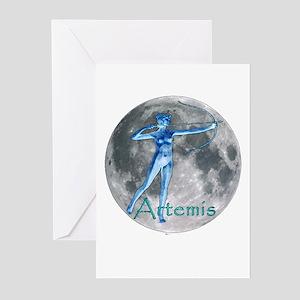 Artemis Moon greek god huntin Greeting Cards (Pack
