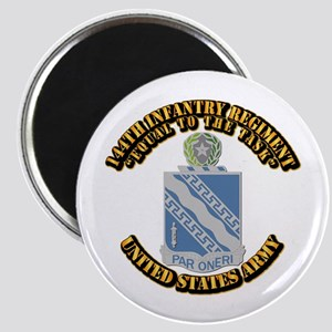 DUI - 144th Infantry Regiment with Text Magnet