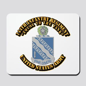 DUI - 144th Infantry Regiment with Text Mousepad