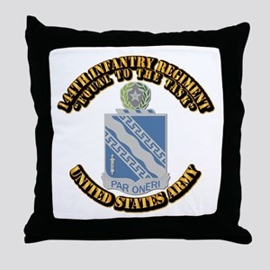 DUI - 144th Infantry Regiment with Text Throw Pill