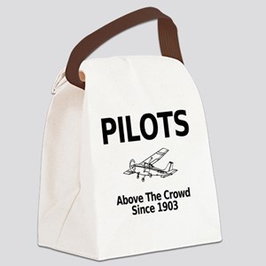 Pilots Above the Crowd Canvas Lunch Bag