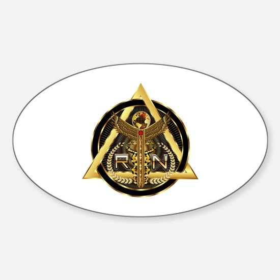 Medical RN Universal Design 1 Sticker (Oval)