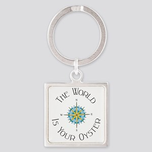 The World Is Your Oyster Square Keychain
