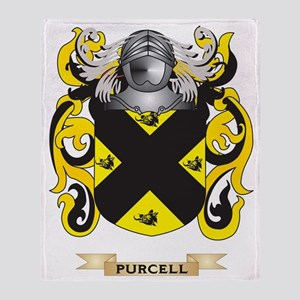 Purcell Coat of Arms (Family Crest) Throw Blanket