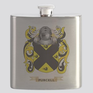 Purcell Coat of Arms (Family Crest) Flask
