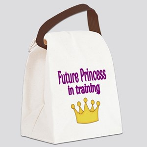 FUTURE PRINCESS IN TRAINING Canvas Lunch Bag