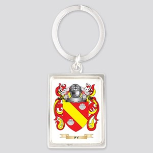 Py Coat of Arms (Family Crest) Portrait Keychain