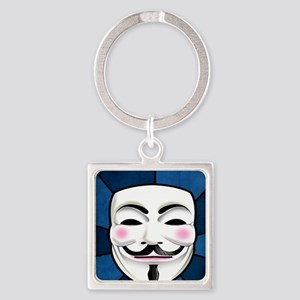 Anonymous 99% Occupy t-shirt Square Keychain