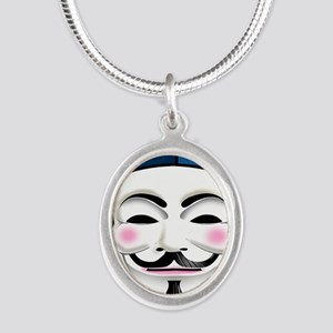 Anonymous 99% Occupy t-shirt Silver Oval Necklace