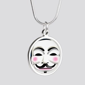Anonymous 99% Occupy t-shirt Silver Round Necklace