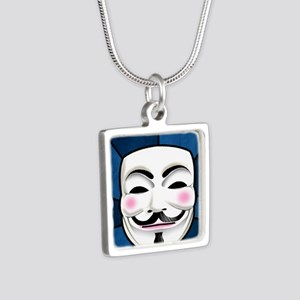 Anonymous 99% Occupy t-shi Silver Square Necklace