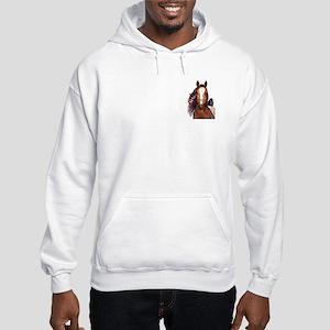 Buckskin Appaloosa War Pony Hooded Sweatshirt