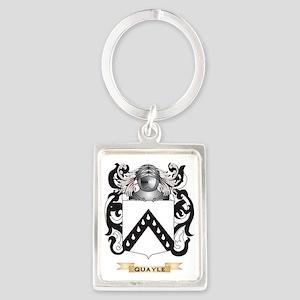 Quayle Coat of Arms (Family Cres Portrait Keychain