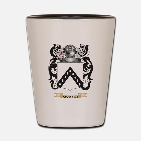 Quayle Coat of Arms (Family Crest) Shot Glass