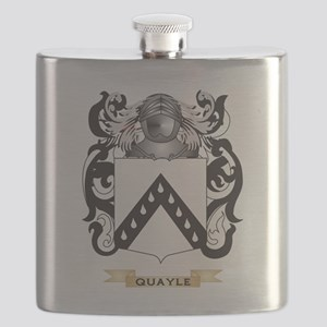 Quayle Coat of Arms (Family Crest) Flask
