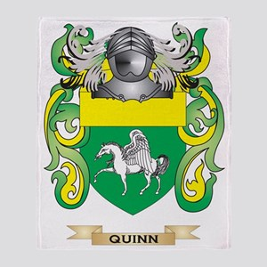 Quinn Coat of Arms (Family Crest) Throw Blanket