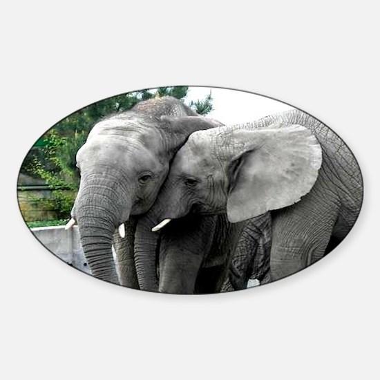 Elephone Love Kiss Peace and joy Sticker (Oval)
