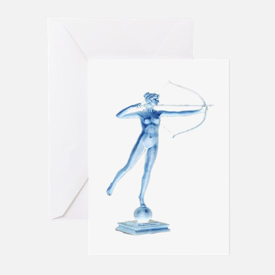 artemis bow hunting Greeting Cards (Pk of 10)